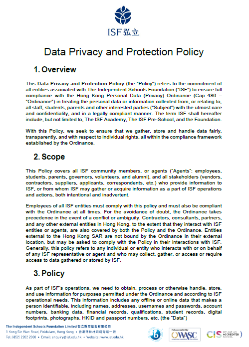 Data Privacy and Protection Policy